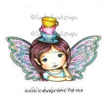 "Cling Stamps Teacup Faerie Molli La-La Land  4.5""X3.5"""