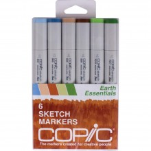 Copic Sketch Markers 6/Pkg - Earth Essentials