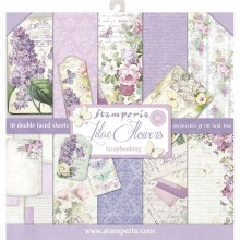 "Stamperia Double-Sided Paper Pad 12""X12"" 10/Pkg Lilac Flowers 10 Designs/1 Each"