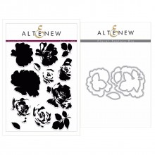 Altenew Floral Fantasy Stamp & Die Bundle - 18 Pieces
