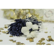 Matte Navy Blue 2mm Head Size Flower making Stamens Stiff Thread Pollens