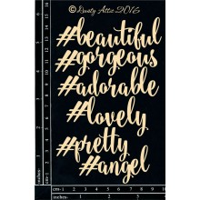 "Hashtag Sayings 6""X4"" Chipboards"