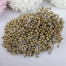 "Frosted Flower Stamens 2.25"" 100/Pkg - Rich Gold"