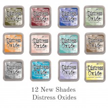 Distress Oxide InkPads Set of 12 New Shades By Tim Holtz