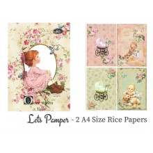 Lets Pamper Pack of 2 Rice Paper A4 By Get Inspired