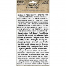 "Tiny Text Idea-Ology Remnant Rubs Rub-Ons 4.75""X7.75"" 2/Pkg"
