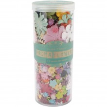 "Mixed Wildflower Pillar Pack Paper Petals .5"" - 2.5"" 1.2oz By Prima"