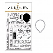 Altenew Birthday Greetings Stamp & Die Bundle - 18 Pieces