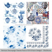 Arabian Tea German Tissue Pk/20 (5 Designs Each) 33x33cms By Ambiente Luxury papers