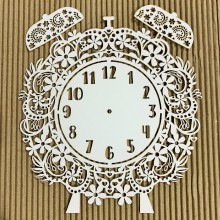 "Retro Twin Bell Clock Panel Chippies By Get Inspired - 9""x 10"""