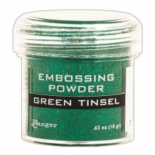 Embossing Powder Tinsel Green By Ranger