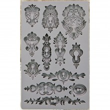 "Keyholes Iron Orchid Designs Vintage Art Decor Mould 5""X8"""