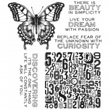 "Perspective Tim Holtz Cling Stamps 7""X8.5"""