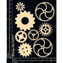 Cogs 8/Pack By Dusty Attic Chipboards