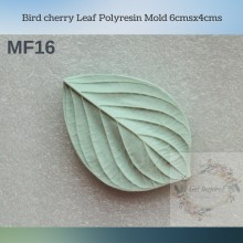 Bird cherry Leaf Polyresin Mold 6cmsx4cms MF16