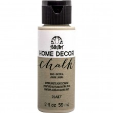 FolkArt Home Decor Chalk Acrylic Paint, 2oz Oatmeal