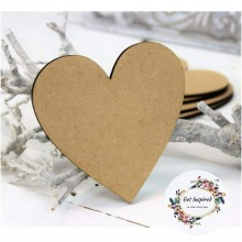 DIY Heart Shape 4inch x 4 inch Set of 8 Coasters for DIY Activities MDF