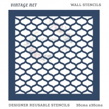 Vintage Net Home Decor Designer Reusable Stencil 35cmsx35cms
