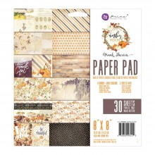 "Double-Sided Paper Pad 8""X8"" 30/Pkg By Amber Moon"