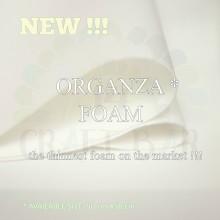Organza Foamiran - White For Flower Making Pack of 5 Sheets