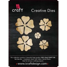 Icraft Flower Making Creative Dies Set Of Five M12