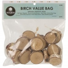 "Baltic Birch Value Bag 20/Pkg 1"" To 1.5""X.5"" Thick"
