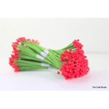 Neon Pink-Wire Pollen-5mm Head Pack10 Bunches