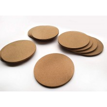 DIY Coasters Set of 8 for DIY Activities MDF 4inch Diameter (Thickness 3.5mm)