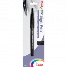 Black Pentel Arts Sign Pen With Brush Tip