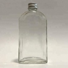 Large Flat Glass Clear Bottle For Mixed Media 20cms x 10cms By Get Inspired