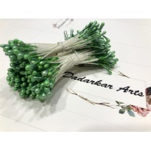 Pearl Green 2mm Head Size Flower making Stiff Thread Pollens