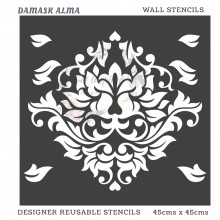 Damask Alma Home Decor Designer Reusable Stencil 45cmsx45cms