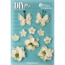 Burlap Blossoms DIY Paintables