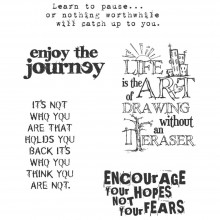 "Just Thoughts Tim Holtz Cling Stamps 7""X8.5"""