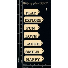 "Mini Tags Smile 6""x3"" Chipboards"