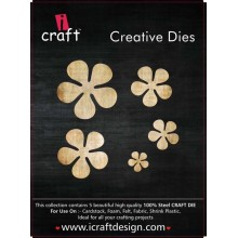 Icraft Flower Making Creative Dies Set Of Five M13