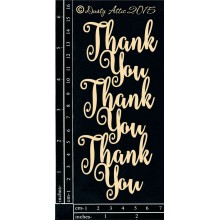 "Thank You 3""x6"" Chipboards"