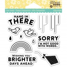 "Hang N There Jillibean Soup Clear Stamps 4""X4"""