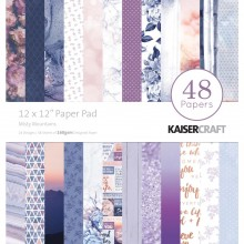 "Misty Mountains Kaisercraft Paper Pad 12""X12"" 48/Pkg"
