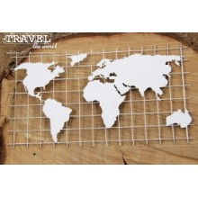 Travel the world - Map XL By Scrapiniec
