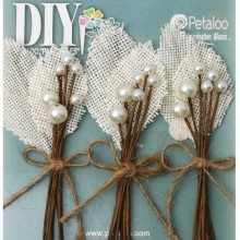 Burlap Leaf Picks Ivory DIY Paintables