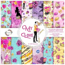 "My Love Double-Sided Paper Pad 12""X12"" 12/Pkg 12Designs 2 Designs Each"