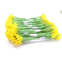 Yellow-Wire Pollen-5mm Head Pack 10 Bunches