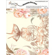 Butterfly Floral Rice Paper A4 By Get Inspired