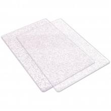 Sizzix Big Shot Cutting Pads 1 Pair Clear With Silver Glitter - Standard