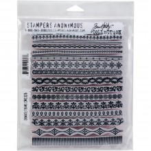 "Ornate Trims Tim Holtz Cling Stamps 7""X8.5"""