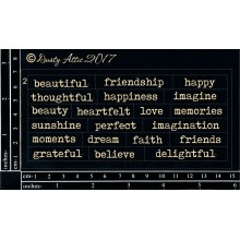 "Wordplay Beautiful Black 6""x3"" Chipboards"