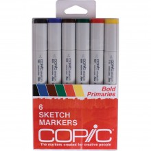 Copic Sketch Markers 6/Pkg - Bold Primaries