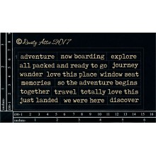"Wordplay Adventure BLACK 6""x3"" Chipboards"