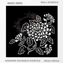 Hazel Vines Home Decor Designer Reusable Stencil 35cmsx35cms